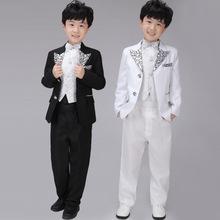 2015 juego de la boda traje de niño trajes vestidos floristas niños boda esmoquin traje infantil(China (Mainland))