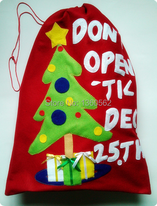 Hot merry christmas gift bags adult bag red