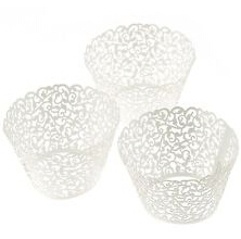 120pcs Laser Cut Lace Wedding Cupcake Wrapper Filigree Vine Wraps Collars Cups Bridal Shower Party Table Decoration(China (Mainland))