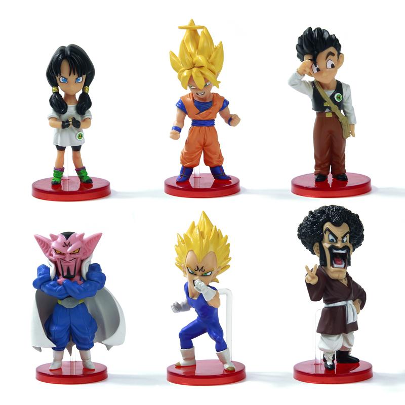 Dragon Ball kai 6pcs Action Figure Budokai Son Goku Gohan Vegeta PVC Model Japanese Anime Figure DragonBall Z Kai Toy(China (Mainland))