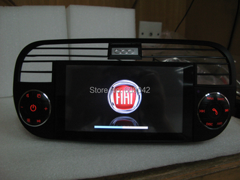 In Dash Auto Radio Car DVD Player GPS Navigation for Fiat 500 with Navi Stereo Bluetooth TV USB AUX Audio Video