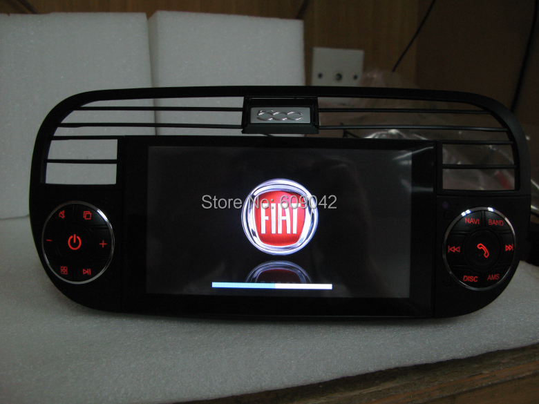 in dash auto radio lettore dvd di navigazione gps per fiat 500 con navi stereo bluetooth tv usb. Black Bedroom Furniture Sets. Home Design Ideas