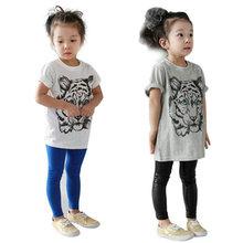 Baby Girls Kids Korean Tiger Printed Casual T-shirt Cotton Shirt Clothes QL