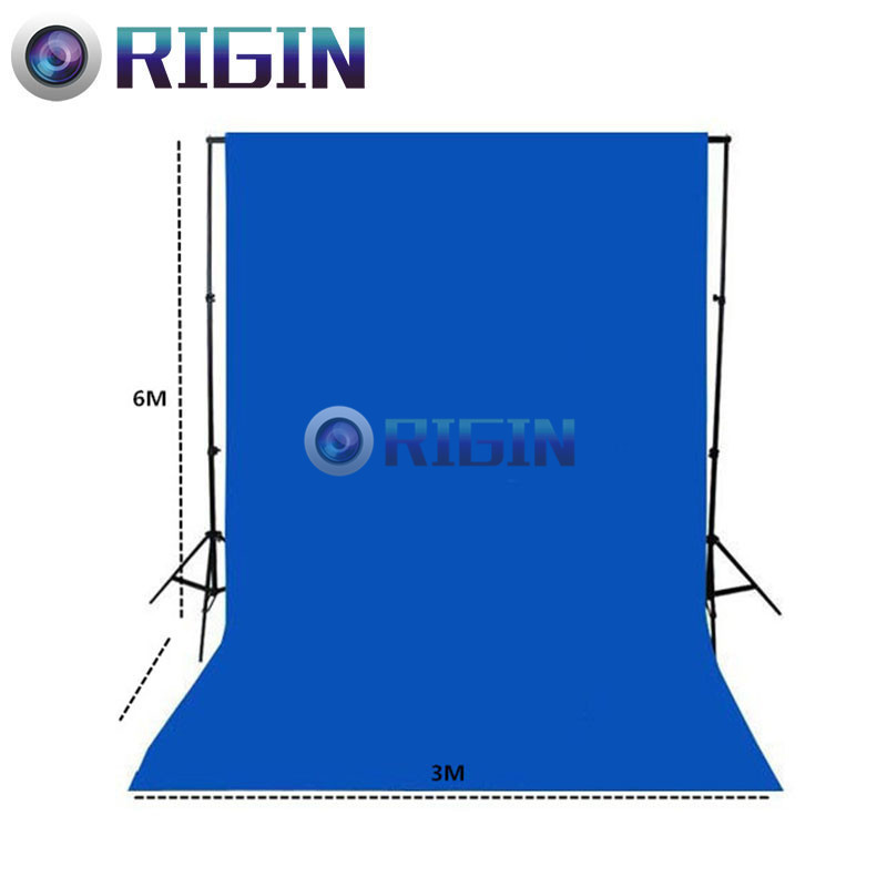 Blue Color 6m*3m Portrait background non-woven cloth photo background cloth photography background cloth<br><br>Aliexpress