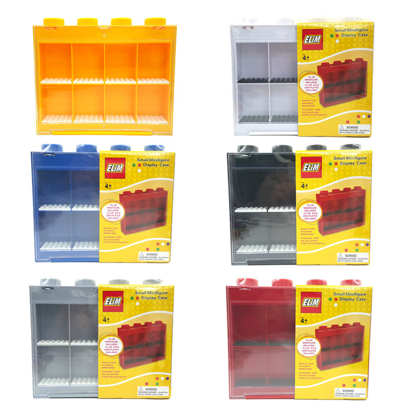 Wholesale Small Minifigures Display Case Plastic Box Building Blocks Sets Model FiguresToys For Children(China (Mainland))