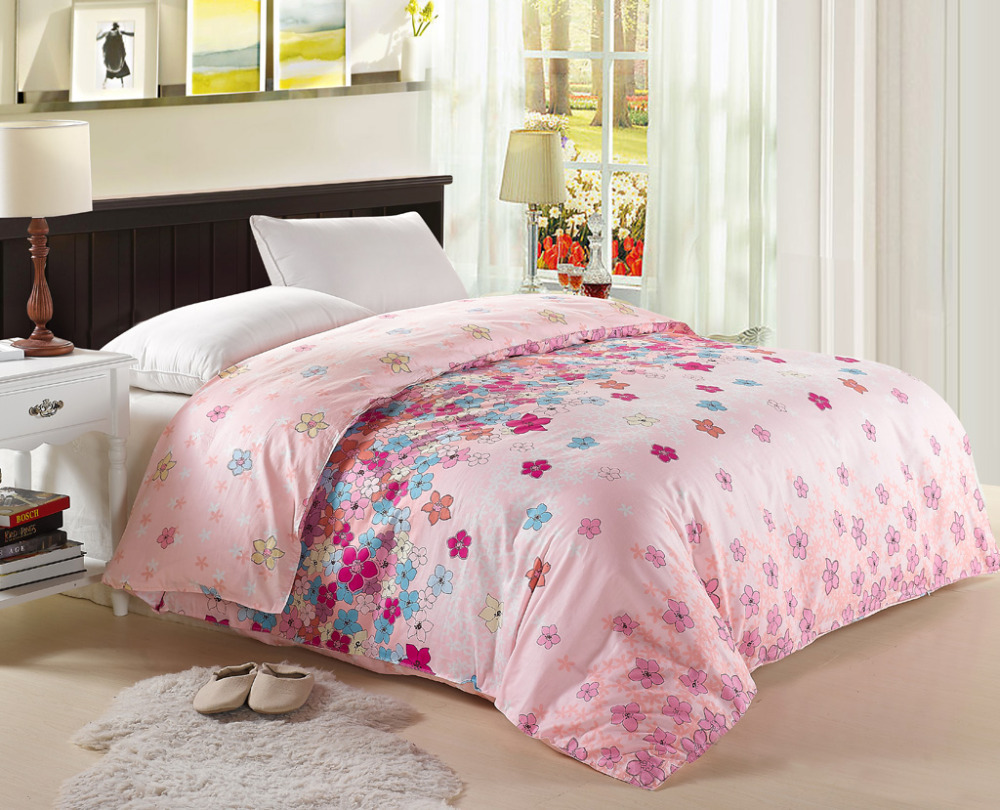 Pink comforters and quilts floral bed sheets parure de lit bed linen roupas d - Parure de lit zara home ...