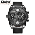 Luxury Brand Design Oulm Watches Men Full Steel Quartz watch Antique Male Casual Military Wristwatch relojes