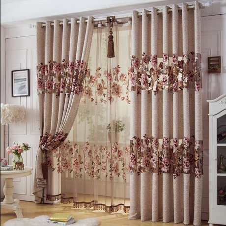 Home Decor Curtains preview Home Decor Curtains For Windows Jacquard Cotton Burnt Tulle Curtain3 26m Custom Curtains For