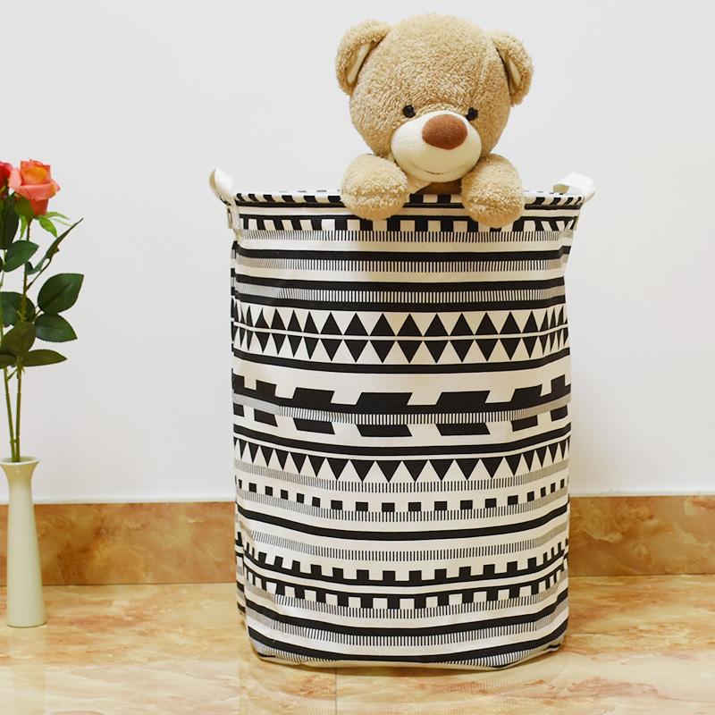 40 50 см Zakka Геометрический большой прачечная корзина хранения Бытовые игрушки Грязная Одежда Складной хранения баррель
