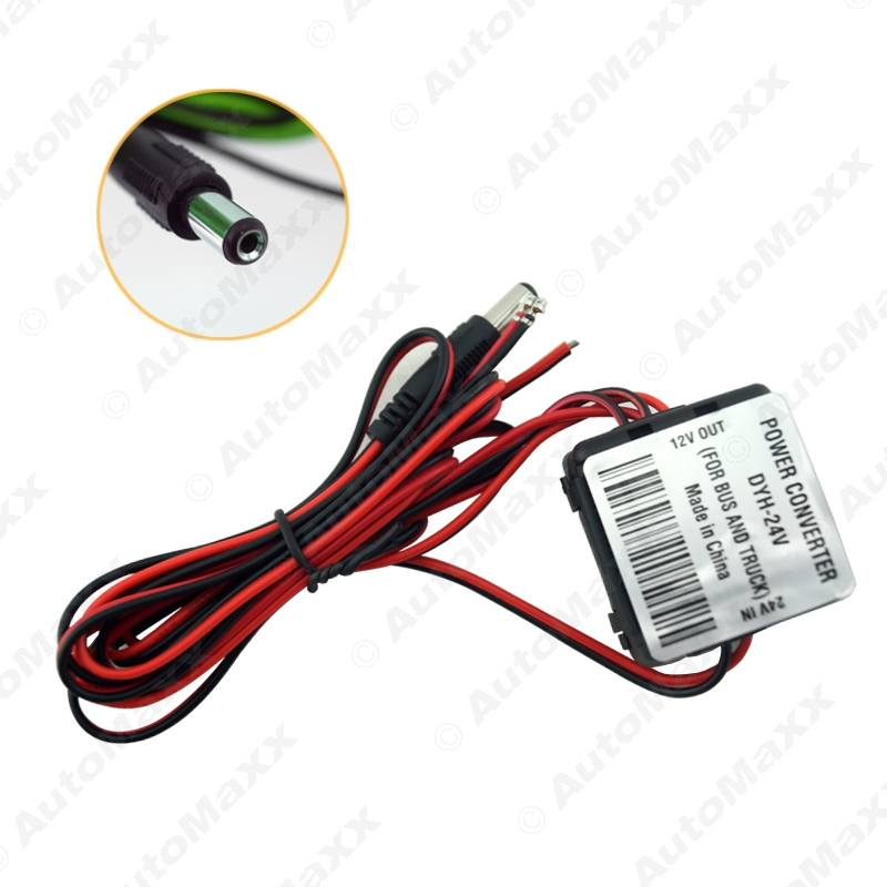 50x Truck/Bus DC24 To DC12V Power Supply Electrical Converter Transformer With Coaxial Power Connector(TypeA 5.5mm/2.1mm)#J-1876(China (Mainland))
