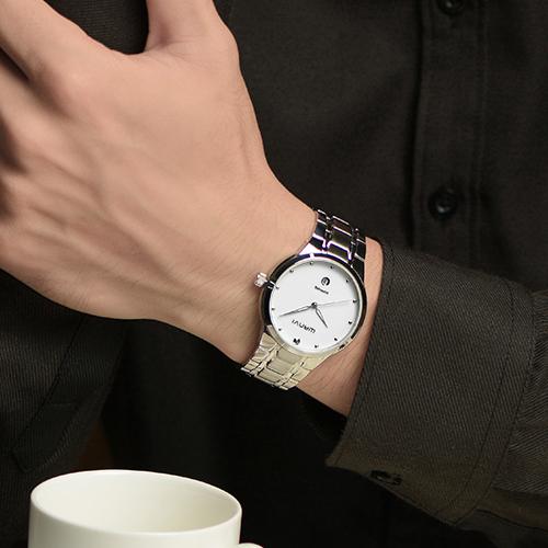 Men rose gold watch, quartz watch fashion men sapphire gold waterproof watches,  calendar luxury watches, stainless steel strap