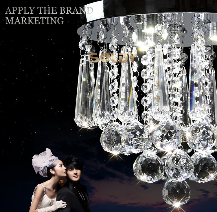 Free Shipping To Brazil Promotional Discount Superb K9 Crystal Led Chandelier Dia15/20/30/40cm Coming With Free 3W LED E14 Bulb(China (Mainland))