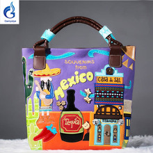 2016women canvas bags Shoulder Bag Italy Bracci Handbag Style Retro Handmade Bolsa Feminina Braccialini For Ladies mexico bags