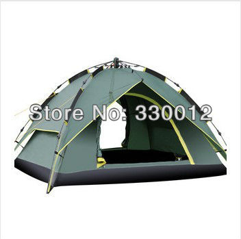 Retail High quality Instant tent Automatic camping tent 3-4 person Double layer(China (Mainland))