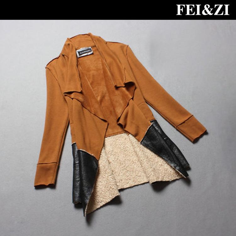 Fashion 2013 autumn winter fashion women's long-sleeve fur outerwear trench overcoat z3 - Bela Kristen 's store