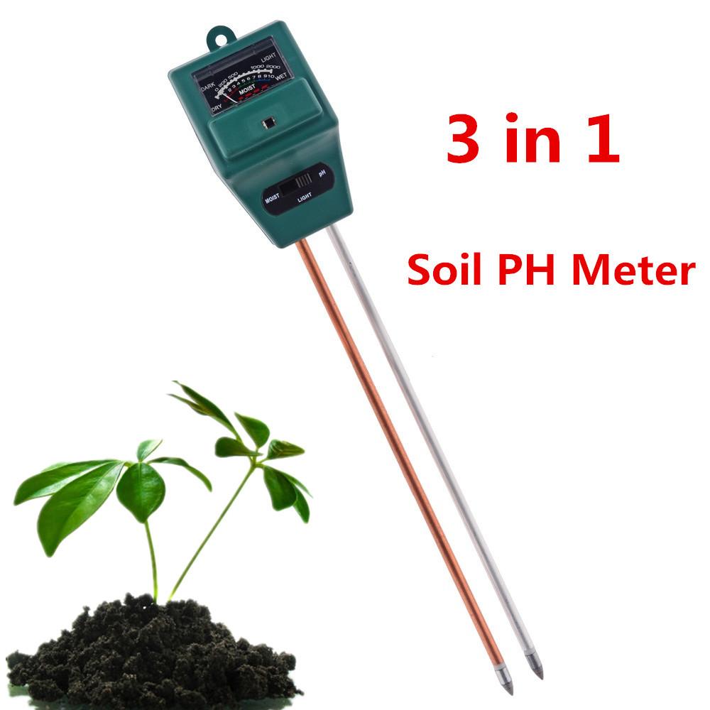 Digital PH Meter 3 1 plants Flowers Soil Water Light Tester Sensor Monitor Aquarium Indoor Garden Plant meter - Ideas Life Store store