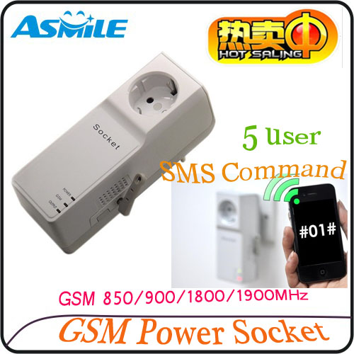 GSM power cocket outlet adapter for Smart home from asmile<br><br>Aliexpress