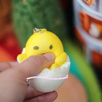 4-5cm MIni 22pcs / pack adult toy vent to relieve stress Gudetama Egg Japanese Anime Egg Keychain Pendant Toy