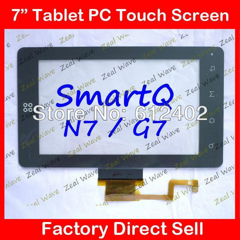 """7"""" inch Touch Screen Digitizer Glass for SmartQ G7 N7 Capacitive Screen Free Shipping(China (Mainland))"""