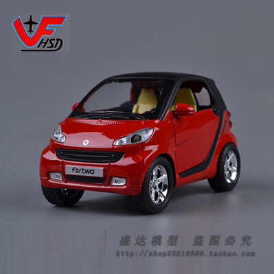 Hot sale Mini toy 1:24 smart Mercedes-Benz fortwo Car model metal diecast Original Alloy car models Kids Toy free shipping(China (Mainland))