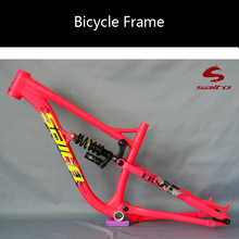the SALTO FRS Downhill soft tail aluminum 26-inch full-suspension mountain bike frame bicycle frame(China (Mainland))