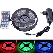 5M 16.4FT 5050 SMD ip65/non waterproof RGB 300 led flexible strip light tape lamp+44 key remote controller+DC12v 3A power supply(China (Mainland))