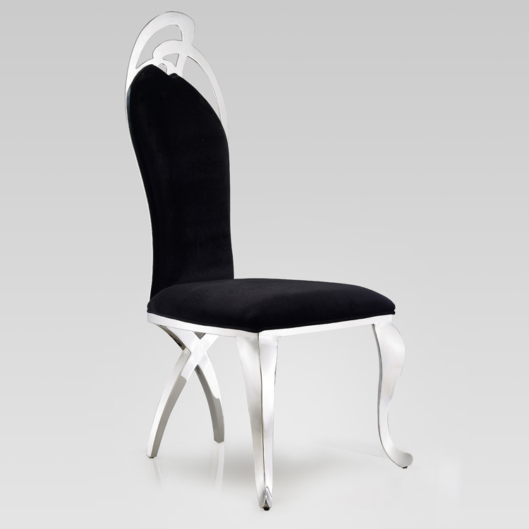 Post modern stainless steel beauty fashion pu leather for Post modern chair