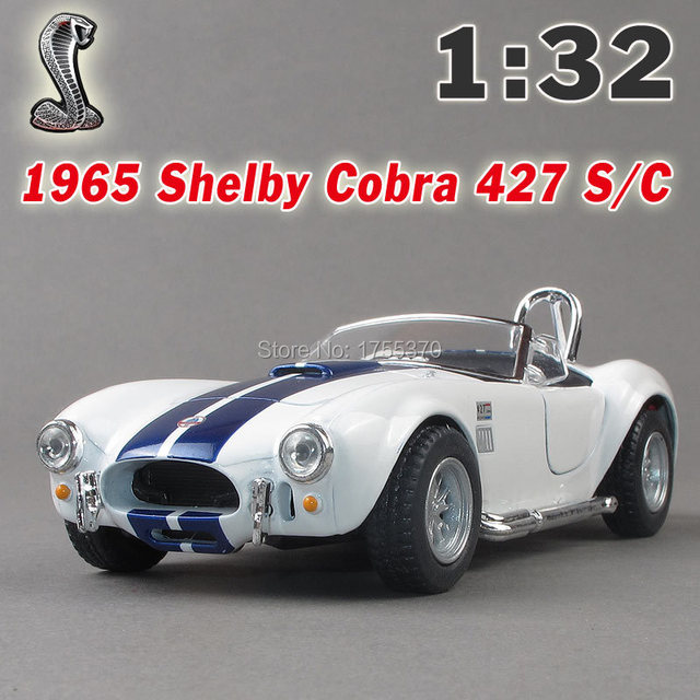New Ford 1965 Shelby Cobra 1:32 Alloy Diecast Model Car Blue Toy Collection For Boy Children As Gift