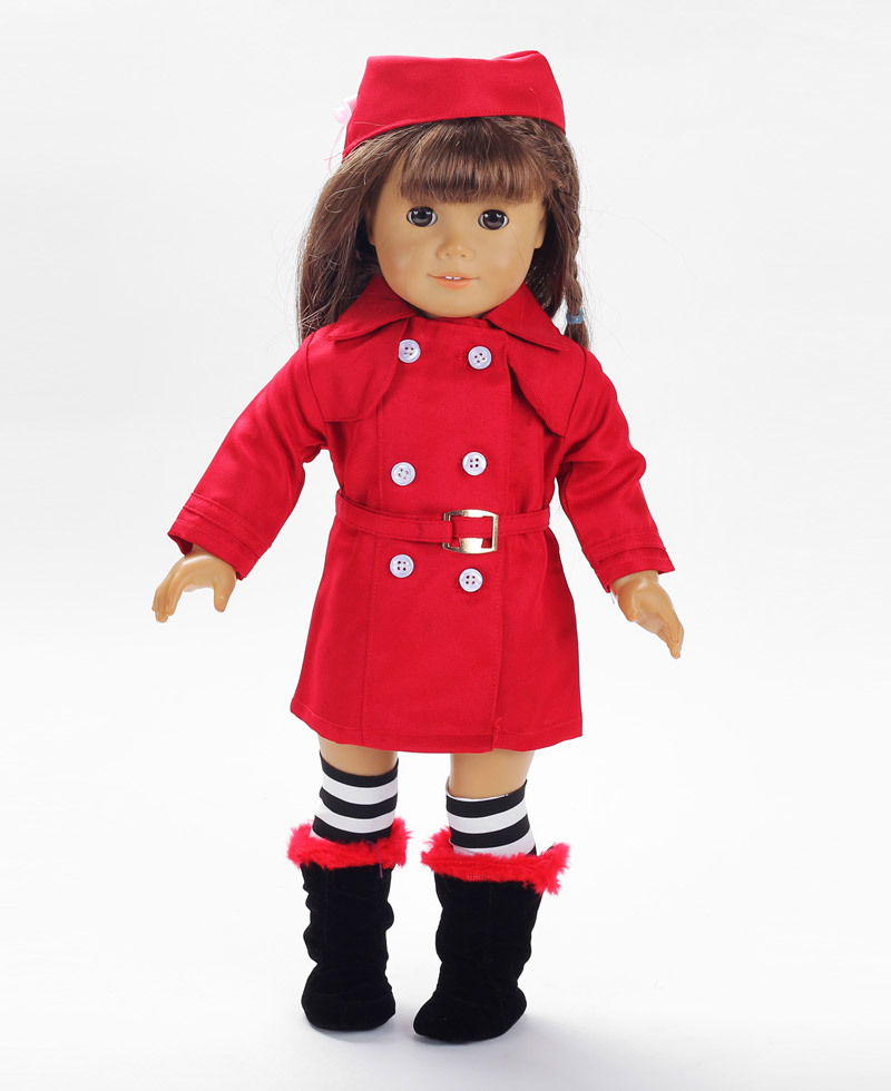free shipping purple wholesale 18 inch doll clothing american girl clothes accessories GE5231