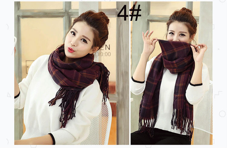 15 Colors High Quality Pashmina Winter Luxury Brand Scarf Women Plaid Cotton Scarf Shawl And Fashion 2017 New Designer Cachecol
