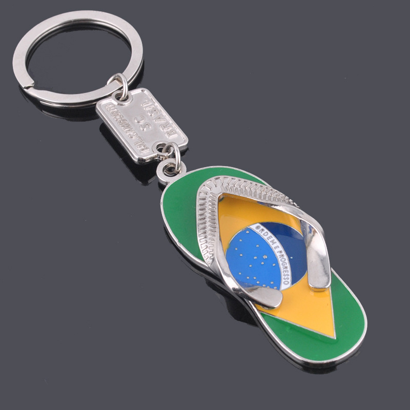 flip flops keychain metal slipper key chain pendant personality design car pendant bag charm factory sale quality guarantee(China (Mainland))
