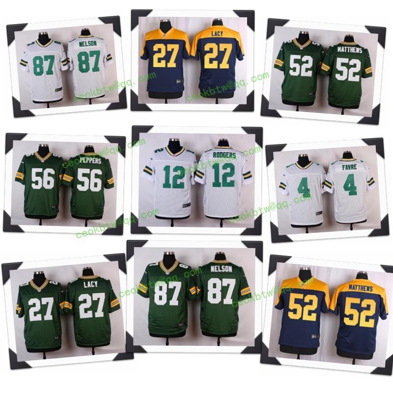 Top A chất lượng Tốt Nhất 100% Stitiched, Xanh Lá Cây Green Bay Packers, Aaron Rodgers, eddie lacy(China (Mainland))