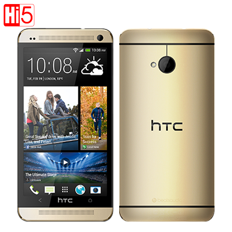Original HTC ONE M7 801e Quad-core 4.7''TouchScreen Android GPS WIFI Unlocked