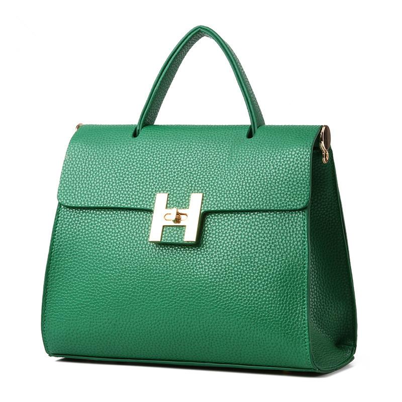 High Quality Elegant Handbag PU Clutch Green Women Shoulder Bag Crossbody Messenger(China (Mainland))