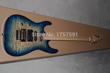 Factory wholesale Custom Body Left Hand Jackson SL2H Soloist Maple neck signature Blue ripples electric guitar(China (Mainland))