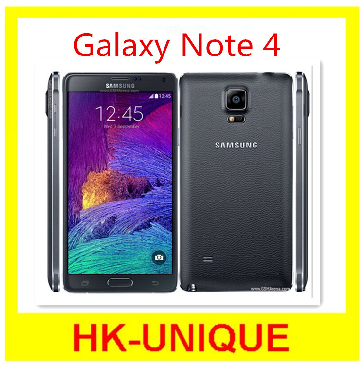 Original Samsung Galaxy Note 4 N910F N910A Android 4.4 5.7 Inch 3GB 16GB FDD-LTE 16.0MP Mobile Phone Free Shipping(China (Mainland))