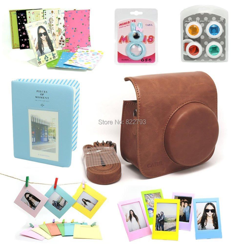 Brown-- Fujifilm Instax Mini 8 Instant Camera Accessory Bundles Set - Fashion gift accessories store