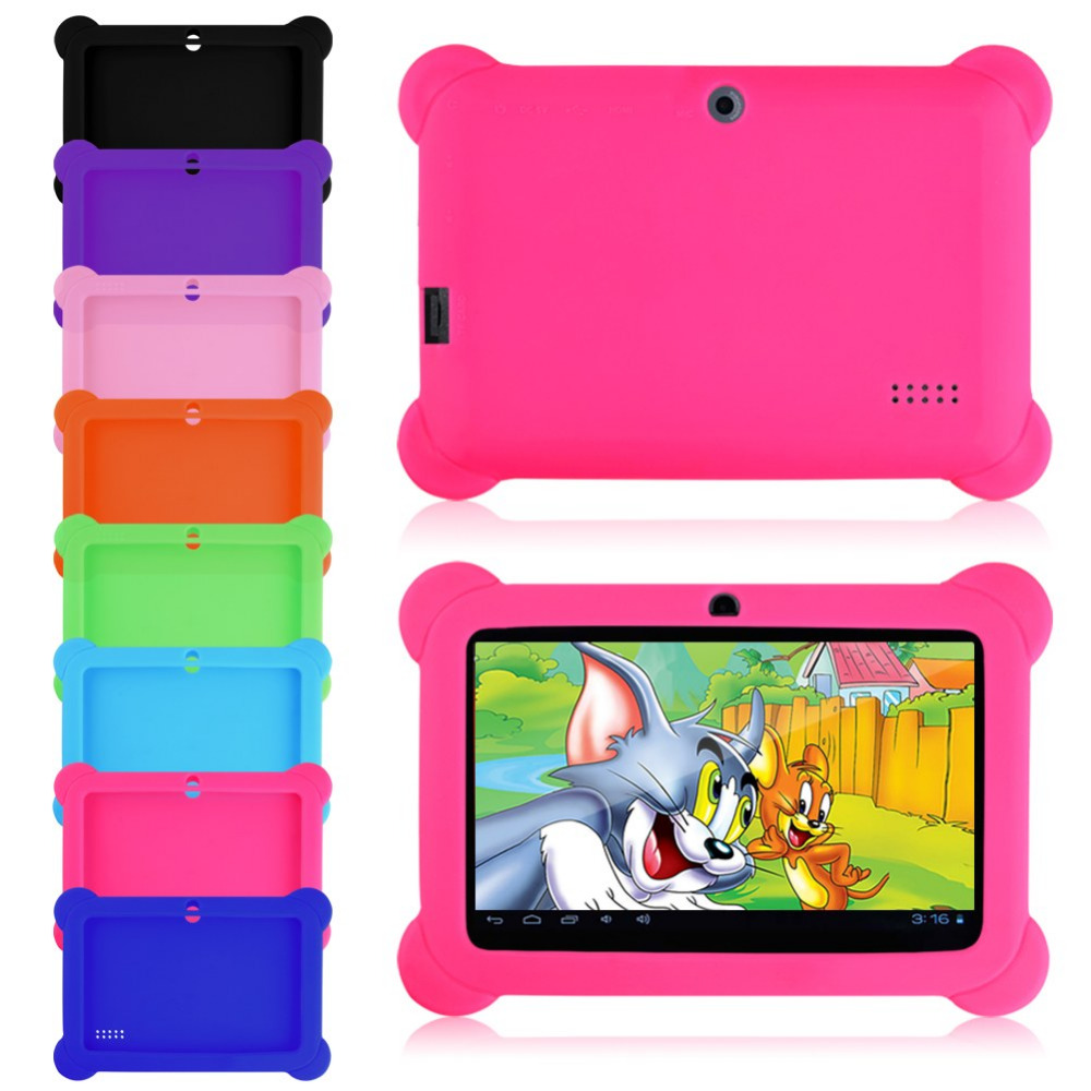 """Anti Dust Kids Child Soft Silicone Rubber Gel Case Cover For Q88 7"""" Inch Android Tablet PC(China (Mainland))"""