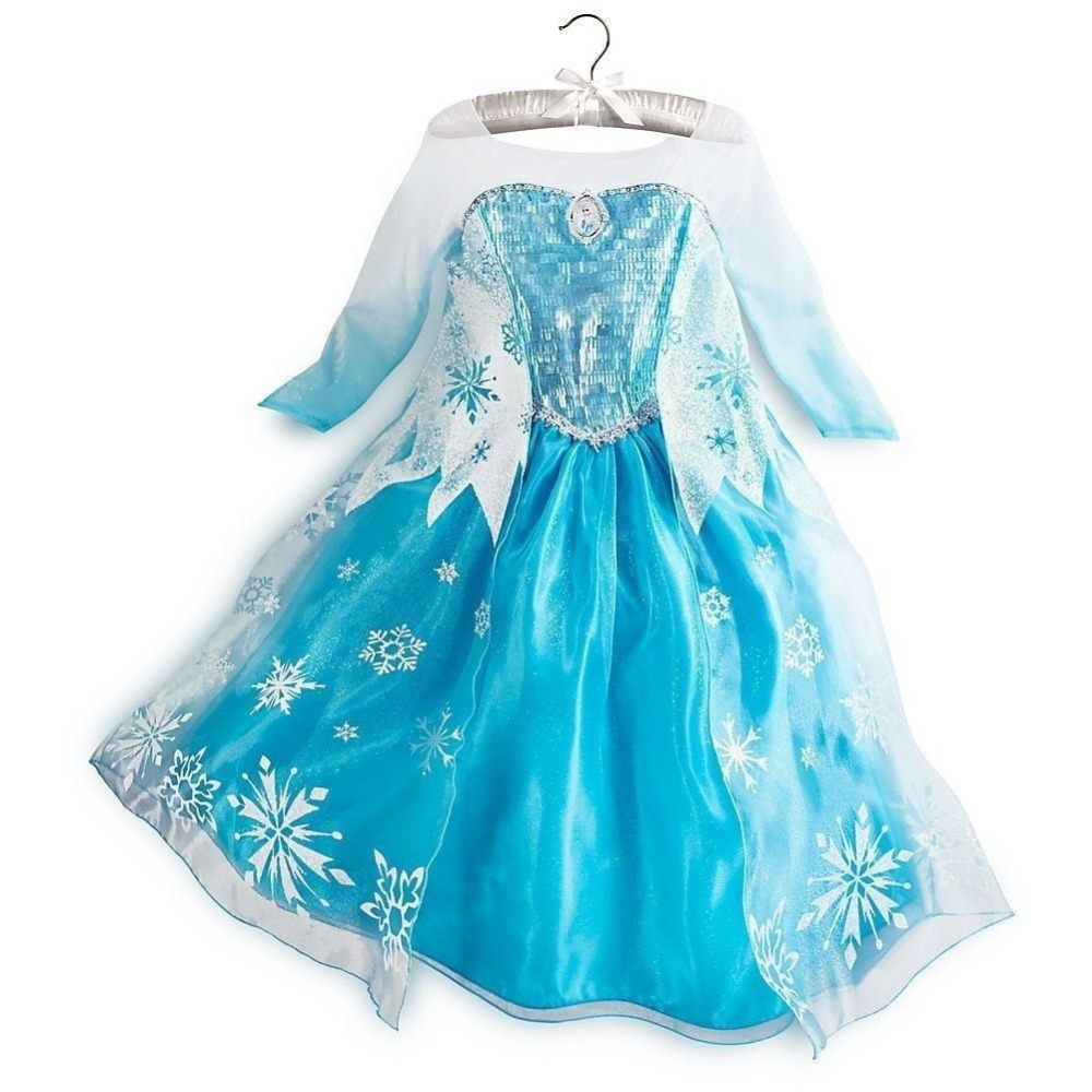 Hot newest design elsa dress with cameo nwt elsa dress up gown costume