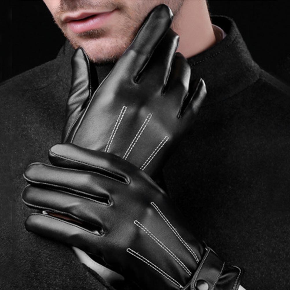 Горячие Для мужчин роскошный из искусственной кожи зимние Отличный для вождения aeProduct.getSubject()