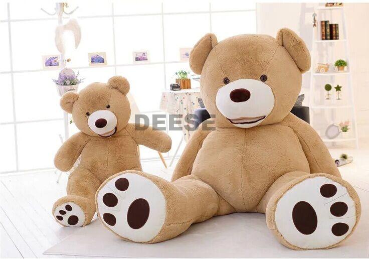 2f5c56b2bf1 Factory price 340cm USA Teddy bear skin Giant Luxury Plush Extra Large  Teddy Bear cost - Dark Brown - Light Brown