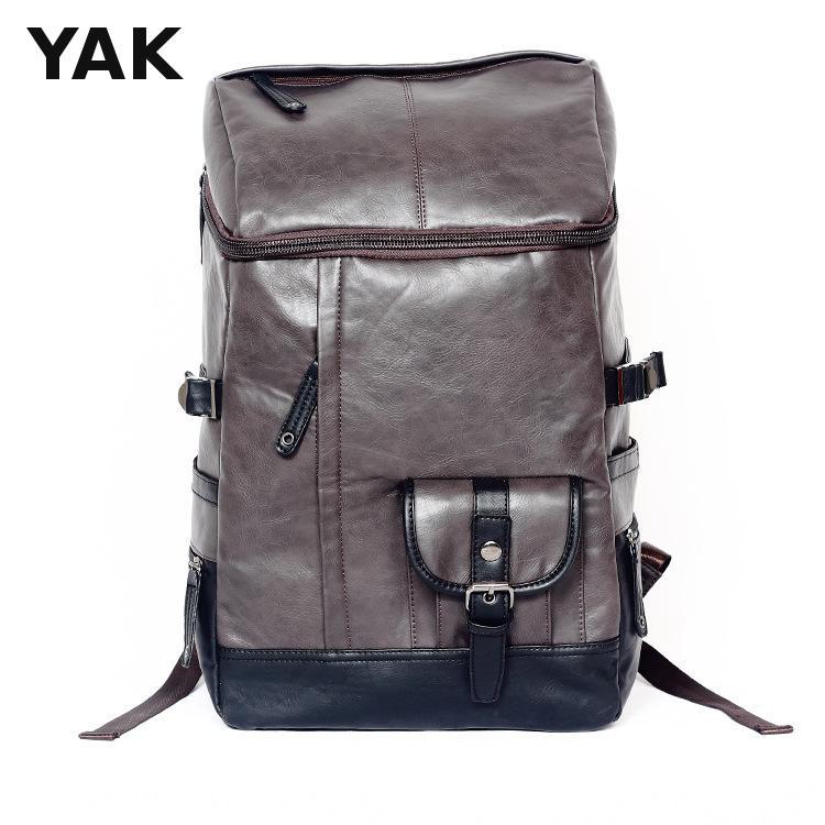 2016 New design men backpacks Good Leather Large Function backpacks men bags hiking camping leather bucket shoulder bag<br><br>Aliexpress