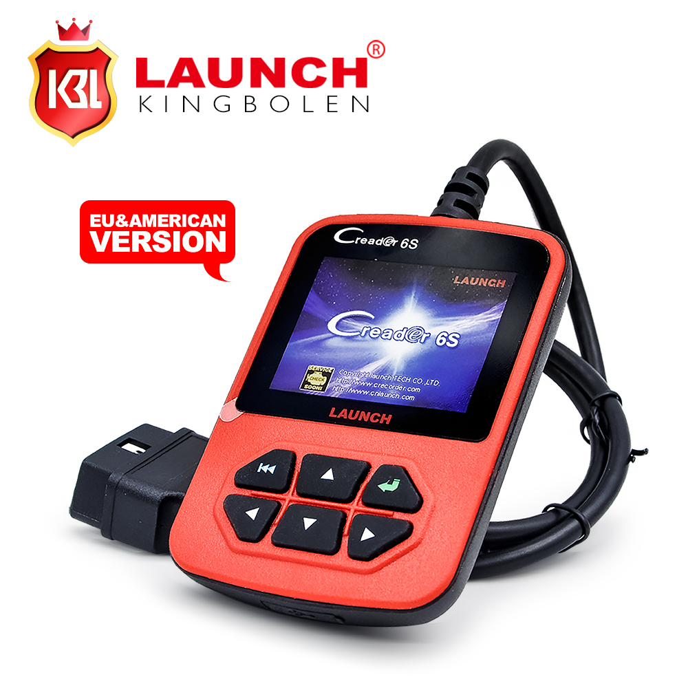 2016 Wholesale Launch X431 CReader 6s Generic OBDII Code Reader Scanner EU&American Version Launch CReader VI Plus(China (Mainland))