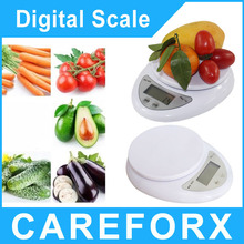 5KG/1G Digital LCD Electronic Kitchen Postal Scaleshigh precision small lcd display household electronic weighting scale(China (Mainland))