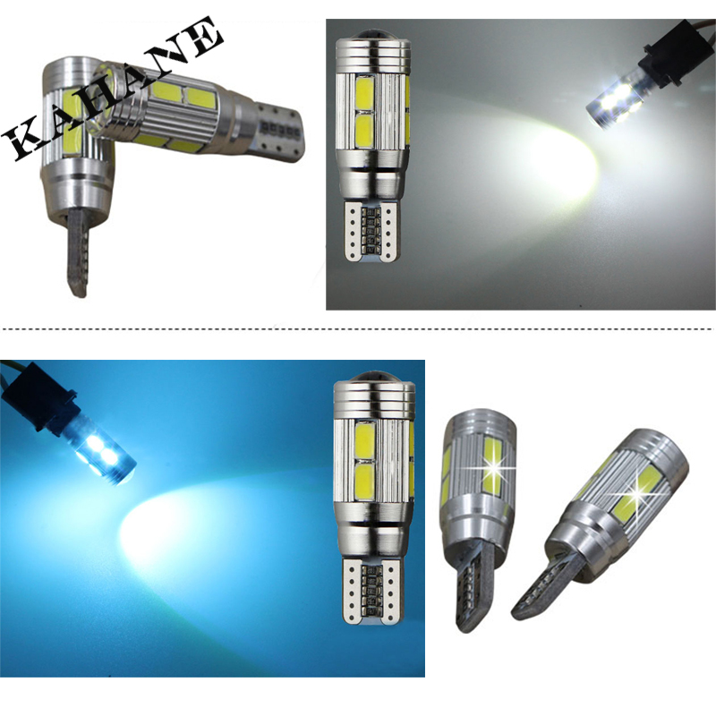2pcs led High Power T10 W5W 168 194 canbus car bulbs with Projector Lens for Ford BMW Lada Kia Toyota xenon White cold Blue(China (Mainland))