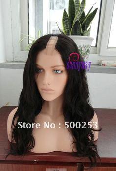 "Sunnymay Custom Loose Curl Virgin Brazilian Human Hair 0.4""*3"" Full Lace With Strech Back U Part Wigs"