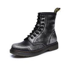 2019 stiefel Frauen Aus Echtem Leder Schuhe Für Winter Stiefel Schuhe Frau Casual Frühjahr Echtem Leder Botas Mujer Weibliche Stiefeletten(China)