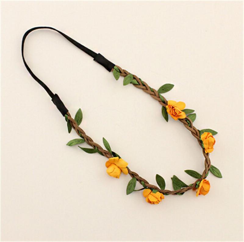 2016 tiara noiva Hair Accessories tiara orange For Women Bohemia Beach Flower Hair bands Bijoux Jewelry accesorio(China (Mainland))