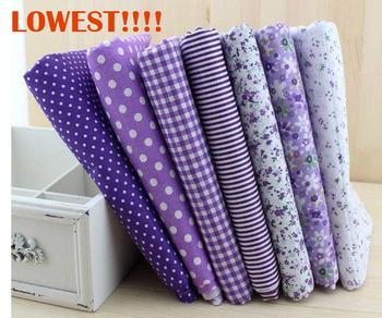 Бесплатная доставка 50 см * 50 см 7 шт./лот фиолетовый хлопчатобумажной ткани жира расслоение лоскутное стегальную ткань швейные W3A1-1