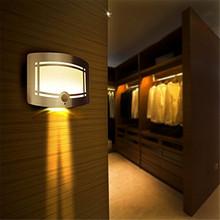 Free Shipping Home LED Night Light Wireless Stick Anywhere Battery Powered Motion Sensor Lights Closet Light  Hot Sale(China (Mainland))
